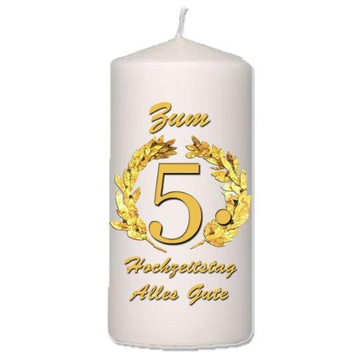 Foto-Kerze zum 5. Hochzeitstag