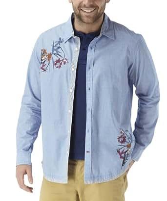 Joe Browns Chemise Juste à sa Place Homme Bleu (XX-L)