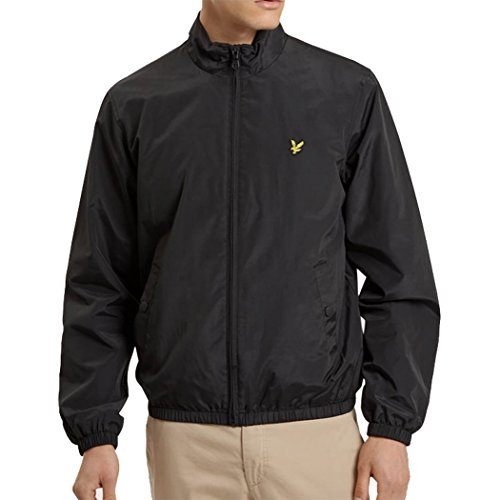Lyle & Scott Funnel neck Zip through Jacke true black (Schwarz Neck Funnel Mantel)