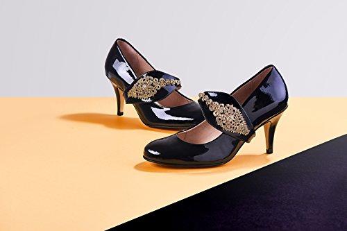 Shoes by Shaherazad  Dream Then Do, Escarpins pour femme noir/or