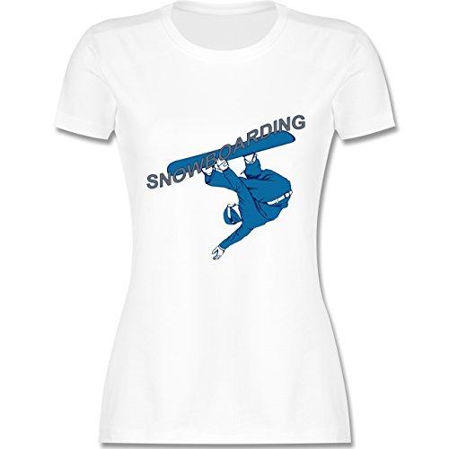 Wintersport - Snowboarding - tailliertes Premium T-Shirt mit Rundhalsausschnitt für Damen Weiß