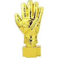 WM-Trophäe, Sport Fußball-Liga Gedenk-Trophäe Kopie Version Golden Gloves Schriftzug Version - Gold