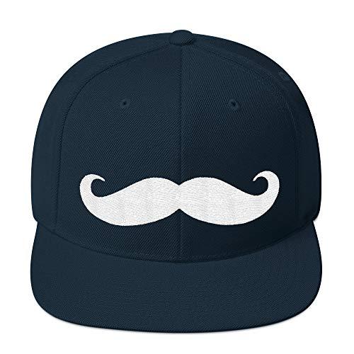 PlimPlom Mustache Snapback Fashion Style Bart Bartträger Schnurrbart Kappe Baseball Cap Cooles Design Gestickt Für Damen und Herren