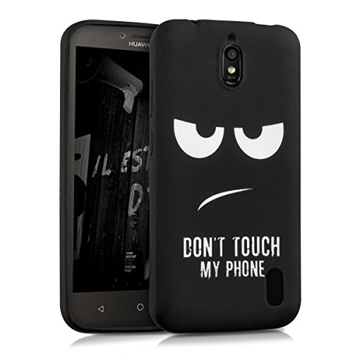 kwmobile Huawei Y625 Hülle - Handyhülle für Huawei Y625 - Handy Case in Weiß Schwarz