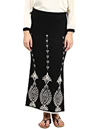 Taurus Women's Jersey Black Straight Temple Skirt