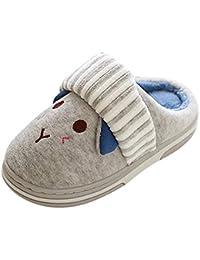 91f026db0749e ProperLI Enfant en Bas âge bébé Girls Garçons Hiver Maison Pantoufles  Cartoon Intérieur Chaud Chaussures Bande dessinée pour Enfants…