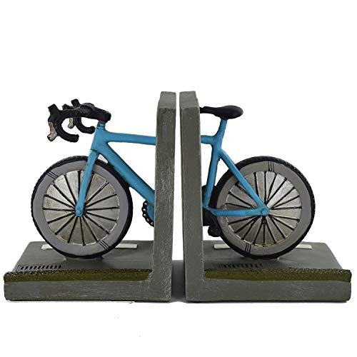 Buchstützen für Rennrad, schwer, für Büro, Zuhause, einzigartig, britische Außendekoration, für Bücher, DVDs, Vinyl-Aufbewahrung, 15 cm hoch