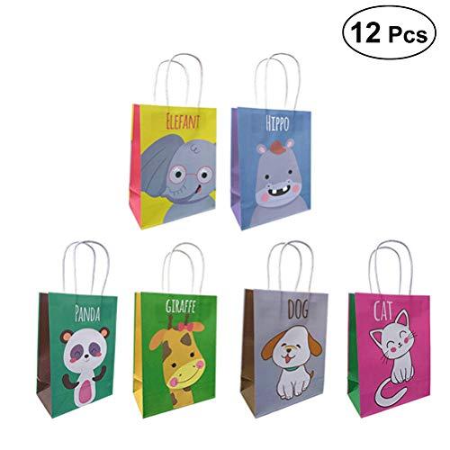 Geschenktüten mit Griffen - Süßigkeiten Taschen, Kleine Größe, Partyzubehör, 12 Stück ()
