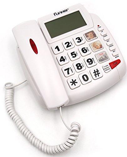 FUNKER D20 Blanco TELÉFONO Fijo SOBREMESA/Pared Especial
