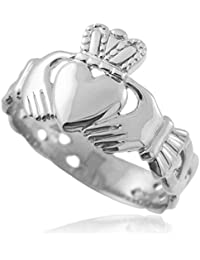 Little Treasures - Mens Claddagh Trinity Band in Silver
