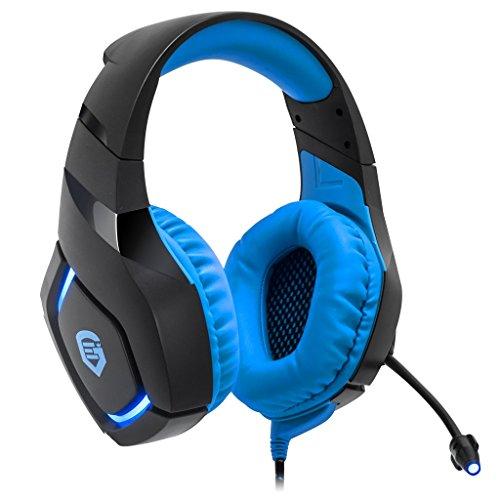 EMPIRE GAMING - Casque Gamer Multiplateforme H1100 Bleu - Son Stéréo Haute Définition - Micro Flexible - Compatible PC et Consoles PS4 / Xbox One*