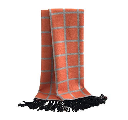 Tianba Modeschal Herren Damen Elegant Kariertes Tuch Gebürsteter Schal Kaschmirschal Jungen Warm Lange Scarf