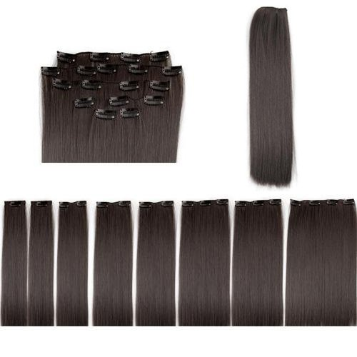 8 X Extension A Clips De Cheveux Fibre 20\\
