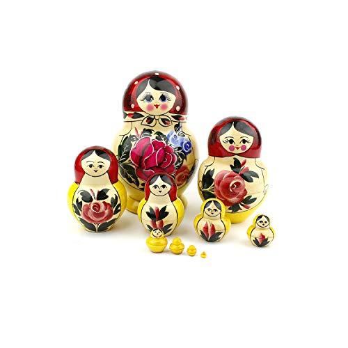 Heka Naturals Russian Matryoshka Nesting Dolls Hand Made -