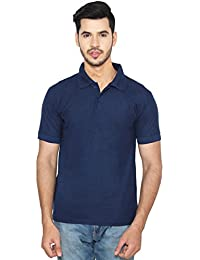 ANSH FASHION WEAR Regular Fit Polo T-shirt For Men - Half Sleeves Casual Men's Polo - Navy Blue