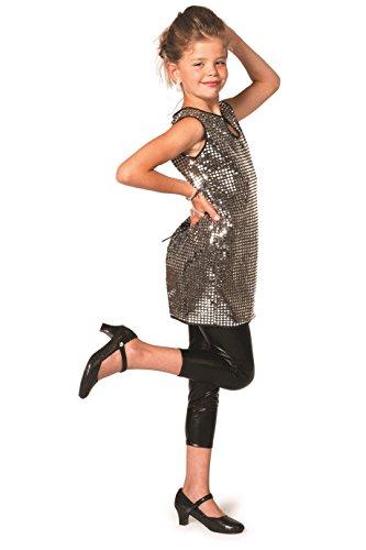 Wilbers 3126 Kinder Paillettenkleid Silber 152 (70's Disco Kostüme Für Kinder)