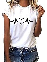 Blusa Mujer, LANSKIRT Blusas Camisetas de Gasa Ropa de Mujer Suéter Jersey Camisas Manga Ajustable Blusas Pullover Tops Suelta