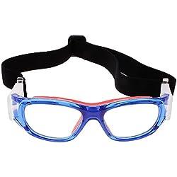 MagiDeal Gafas de protección de Fútbol Baloncesto Para Niños Deportes Acccesorios con Caja - Azul rojo
