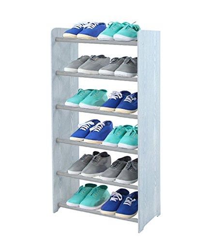 Schuhregal Schuhschrank Schuhe Schuhständer RBS- 6-45 (Seiten hellgrau, Stangen in der Farbe grau)