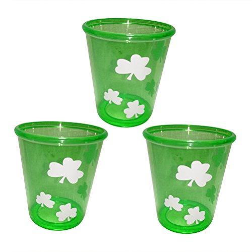 mrock Gläser Tassen Saint Patrick Zubehör für Saint Patricks Day Dekoration Pack 3pcs ()