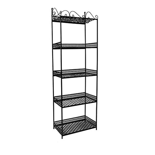 Chengxin librerie scaffale boltless a 5 strati per garage - telaio in metallo industriale indipendente con robusta mensola per il trasporto librerie (color : black, dimensione : 33 * 19 * 102cm)