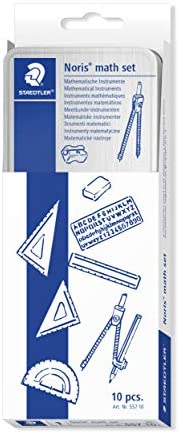 Steadtler Math set 5510, set de mathématiques complet de haute qualité, pour l'école, 55