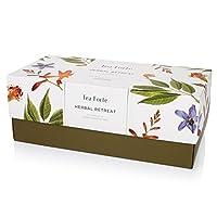 Tea Forte Herbal Retreat Presentation Box, Handcrafted Pyramid Tea Infusers, Relaxing Herbal Tea, 20 Count