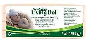 Polyforme Super Sculpey Living Doll Argile à cuire au four 450 g Bébé