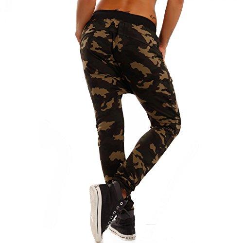 Damen Boyfriend Camouflage Hose Baggy Jogg-Pants Freizeit Yoggapants Harem Camouflage