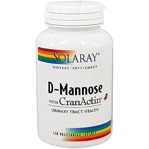 Solaray - D-manosa con CranActin - 120 Cápsulas vegetarianas