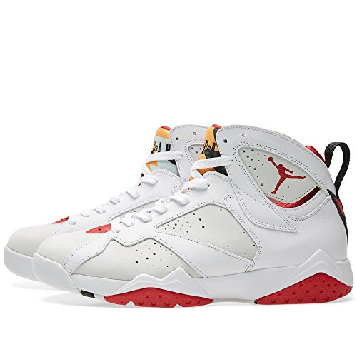 Retro 7 Hare BLANC / ARGENT / TOURMALINE Jordan / TRUE 304775-125 White/True Red-Lght Slvr-Trmln