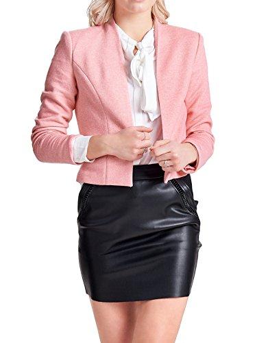 ONLY Damen Onldonna Ricks Short L/S Blazer Tlr, Rosa (Strawberry Ice Detail:Melange), 38