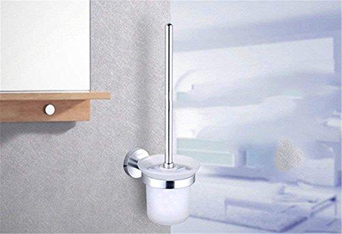 XJJ 9 der Raum Aluminium Bad Metall Kleiderbügel Toilettenbürste Badezimmer ACC. Solide Dicke Basis 939511