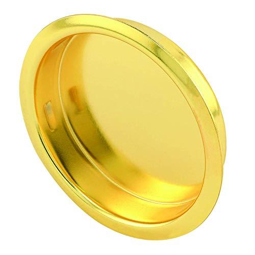 slide-co 163138Bypass Tür Pull Griff, Messing vergoldet, (2Stück) (Bypass-türen)