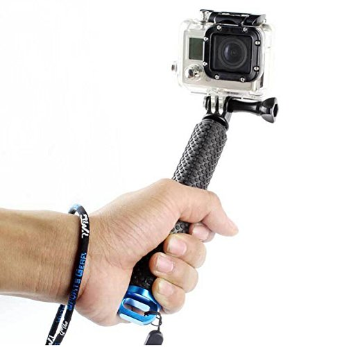 Freude 17,8–48,3cm Selfie Stick Sport Kamera Selfie Stick Aluminium Teleskopstange Handheld Hand Grip für GoPro Hero 543321Xiaomi Yi Kameras und vielen anderen gleichen Mount Kameras, blau