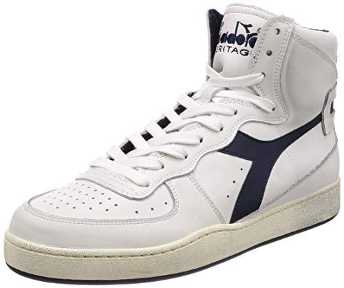 Diadora Heritage Herren High Sneaker Mi Basket Used 158569, Größe:43;Farbe:Weiß Heritage Basket