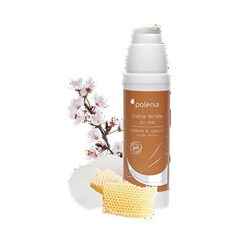 POLENIA - Creme de Jour Bio teinte au miel 50 ml - Sublime et adoucit toutes peaux - Couleur Vert