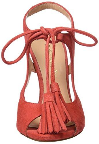 PEDRO MIRALLES 19316, Sandali con Cinturino alla Caviglia Donna Rosso (Geranio)