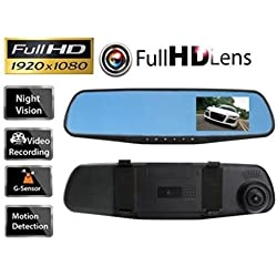"B-Creative HD 1080P 2.8"" Lens Honda, Civic DVR Rear View Mirror Dash Cam Video Camera Recorder"