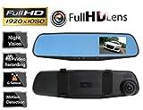 b-creative HD 1080P 7,1cm Dual-Objektiv Auto Peugeot 2008, 205, 206, 206CC, 206SW, 207DVR Rückspiegel Dash Cam Video Kamera Recorder