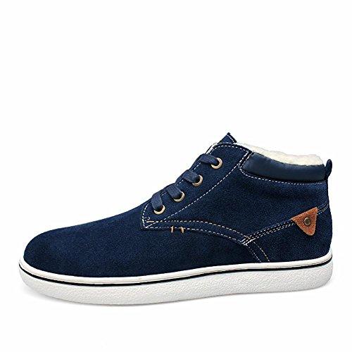 Herren Outdoor-lässige Wildleder High-Fashion-Sneaker-Bootsschuh gepolstert Blue