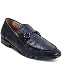 tresmode Men's Textured Leather Loafers
