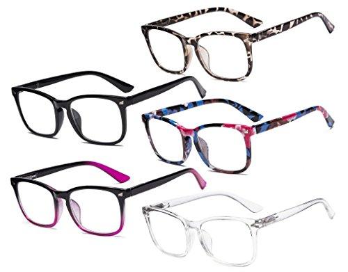 Eyekepper 5er Pack Stylisch Lesebrille Brille Brillen für Frauen Männer +1.75