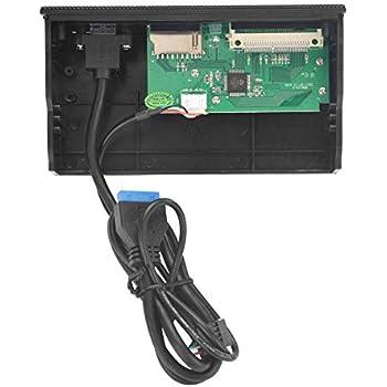"PC Internal Card Reader USB 3.0 e-SATA Port 5.25/"" Media Dashboard Front Panel SS"