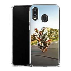 DeinDesign Slim Case kompatibel mit Samsung Galaxy A40 Silikon Hülle Ultra Dünn Schutzhülle Meddes Motorrad Motorsport