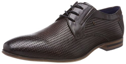 Bugatti 311252042115, Derbys Homme Marron (Dark Brown/ Blue)