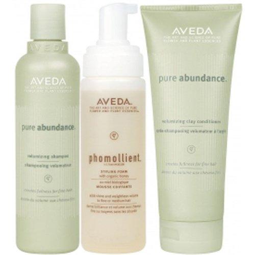 Aveda Pump Up Volume Pack,Pure Abundance Volumising Shampoo 250ml + Pure Abundance Volumising Clay Conditioner 200ml + Phomollient Styling Foam 200ml -