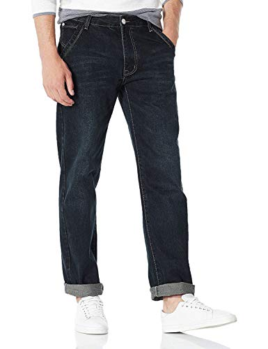 Demon&Hunter 809 Series Hombre Loose Fit Relaxed Ancho Pantalones Vaqueros DH8009-1(40)