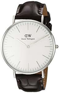 Daniel Wellington Classic Herren-Armbanduhr Analog Quarz Leder - DW00100025
