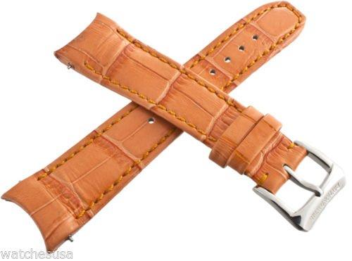 Raymond Weil 5590 Uhrenarmband für Damen, 20 mm, Leder, Orange